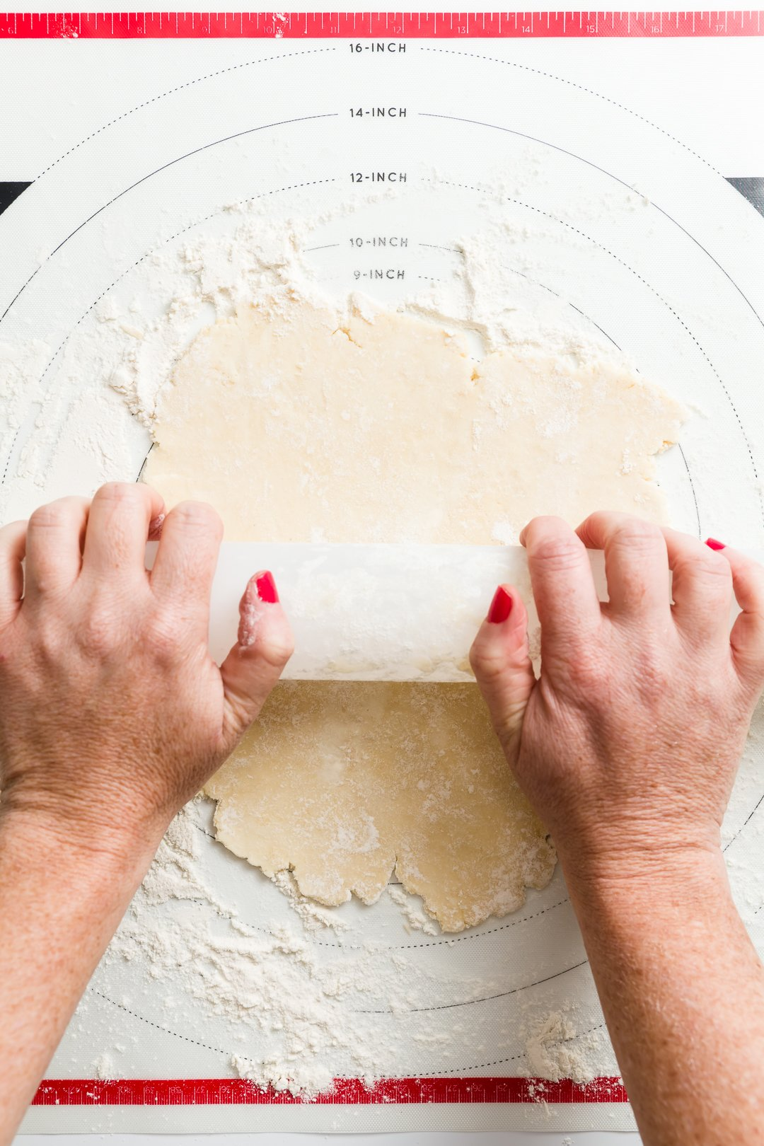 Rolling cream cheese dough