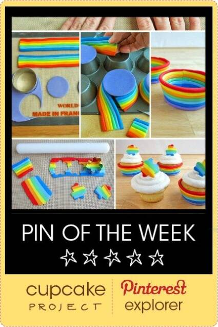 Rainbow Fondant Cupcake Cups – Pin of The Week