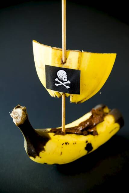 Chocolate Banana Pirate Ship