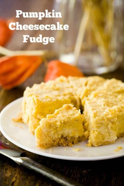 Pumpkin Cheesecake Fudge