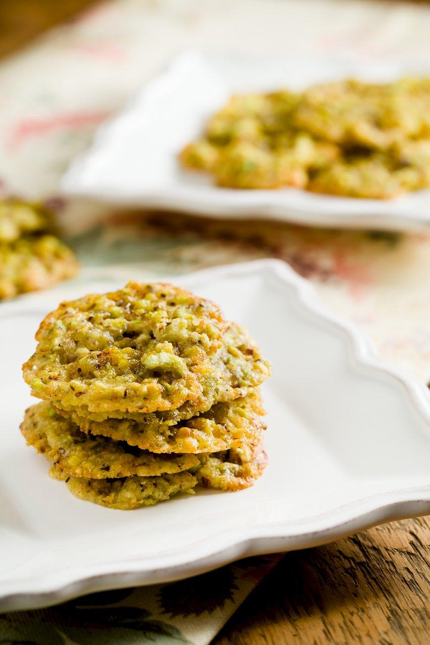 Saffron Pistachio Lace Cookies