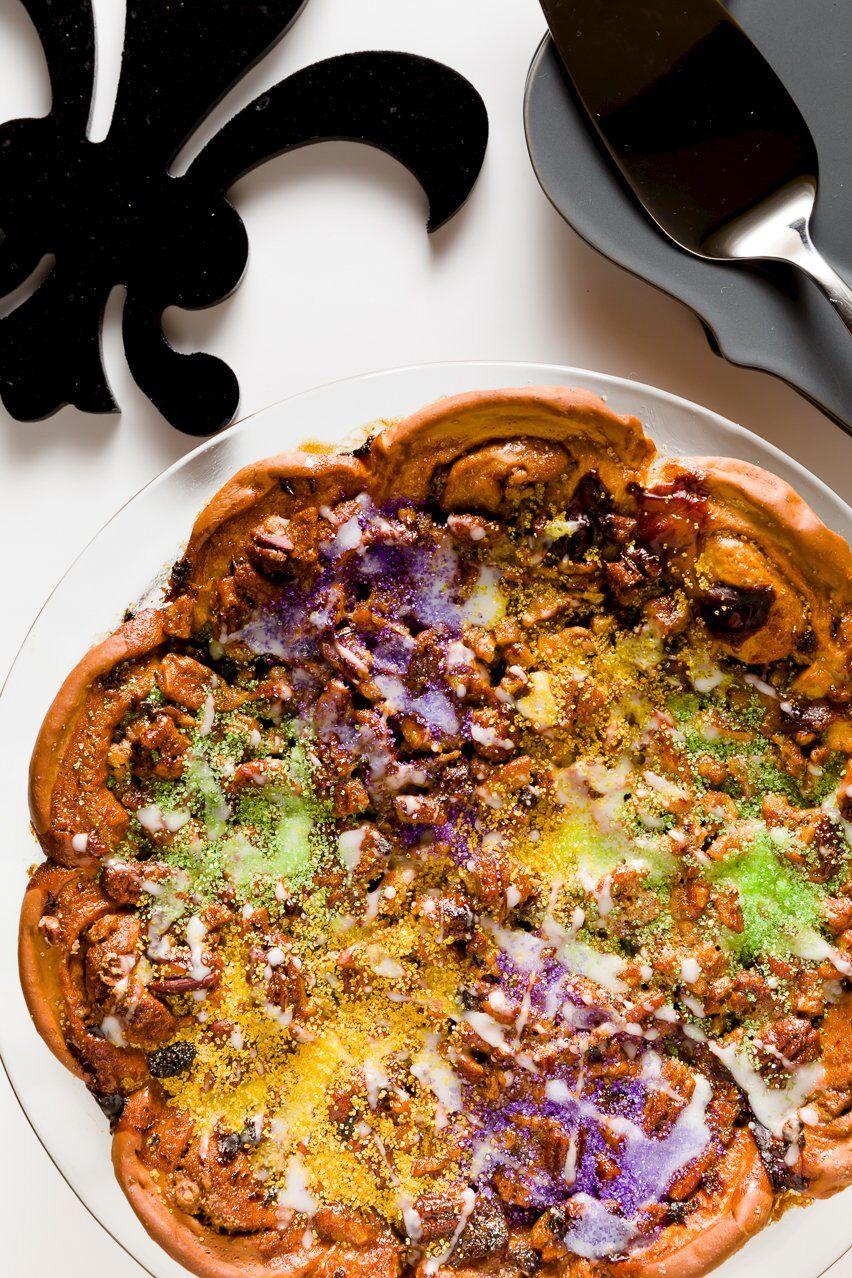 King Cake Pecan Pie