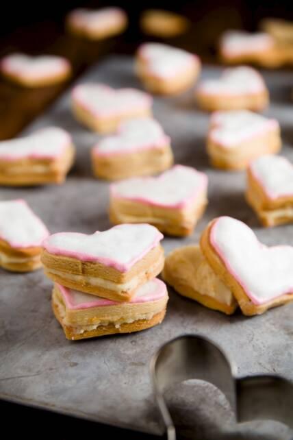 Orange Honey Sandwich Cookies
