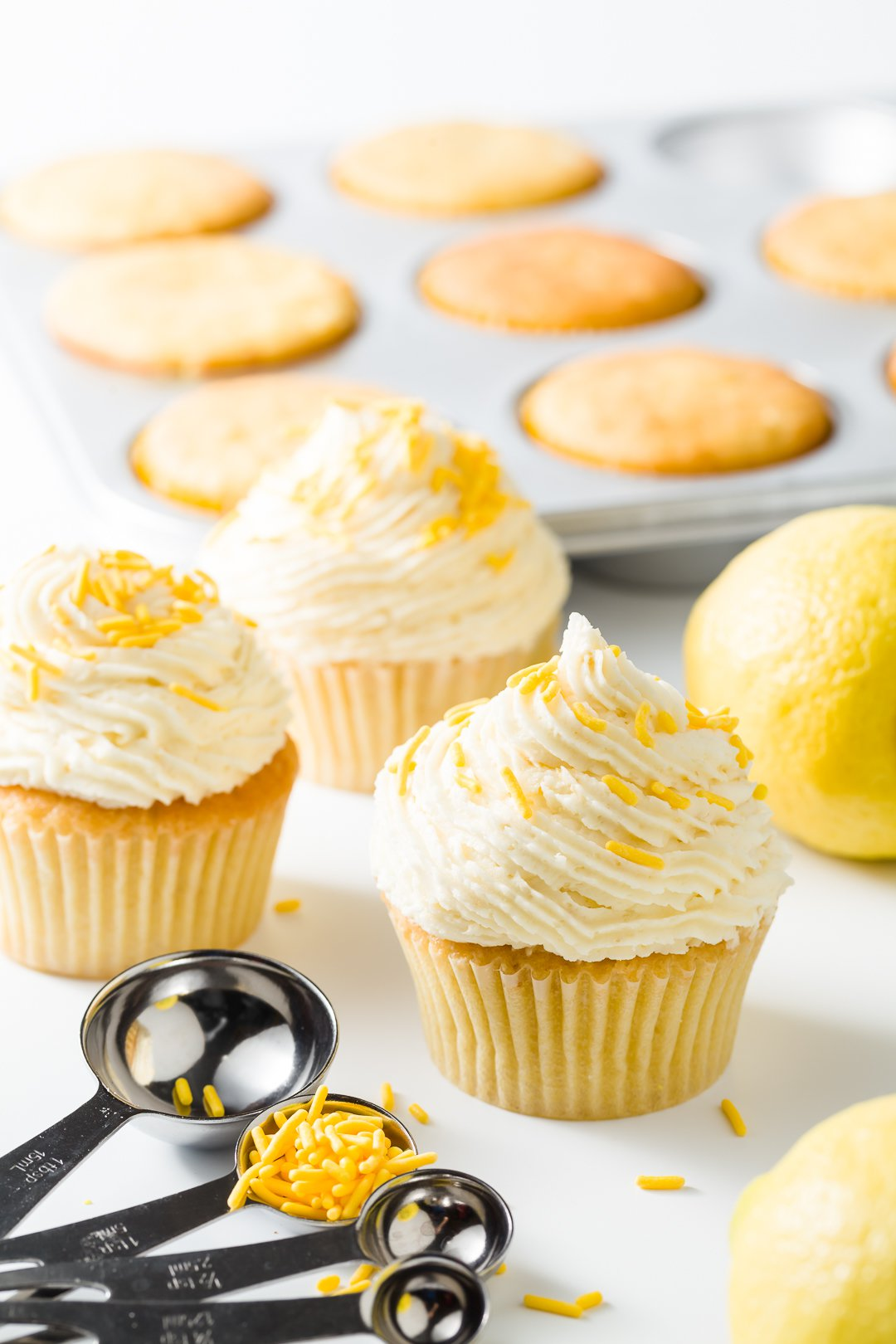 Lemon Cupcakes with Lemon Frosting