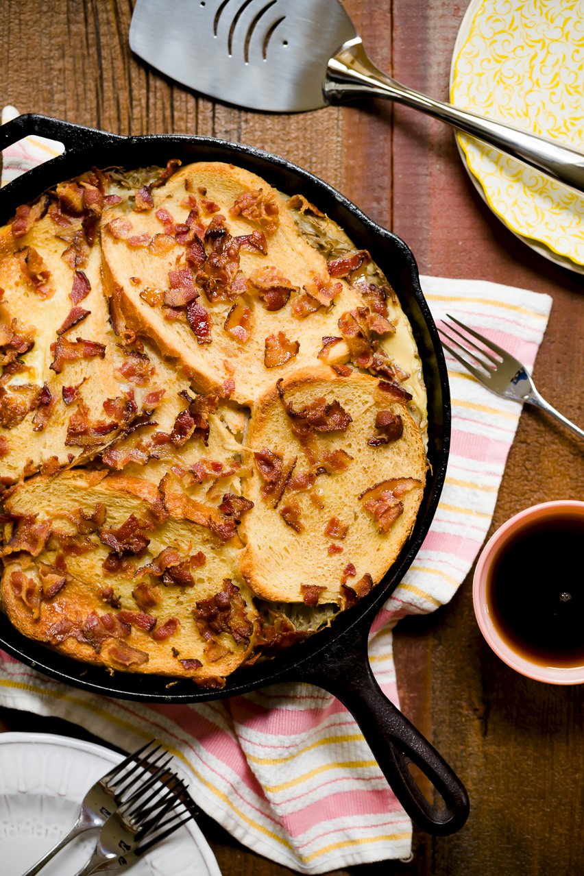 Maple Bacon Hash Brown French Toast Casserole