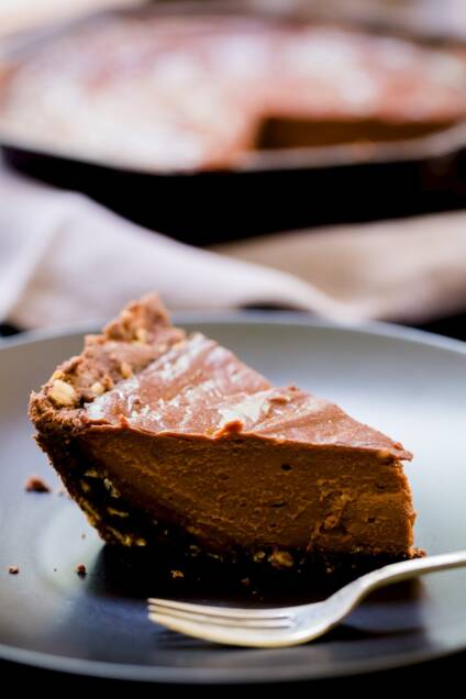 Sea Salt and Chocolate Skillet Sugar Pie