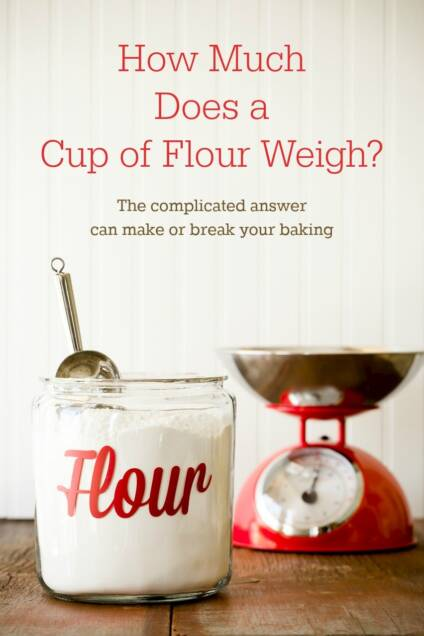 How Much Does a Cup of Flour Weigh in Grams?  I Weighed 192 Cups of All-Purpose Flour to Find Out.