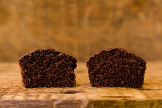 Two chocolate cupcakes