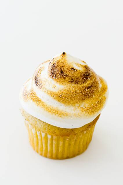 Aquafaba on a cupcake