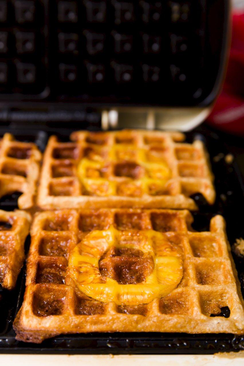 Pineapple Upside Down Waffles