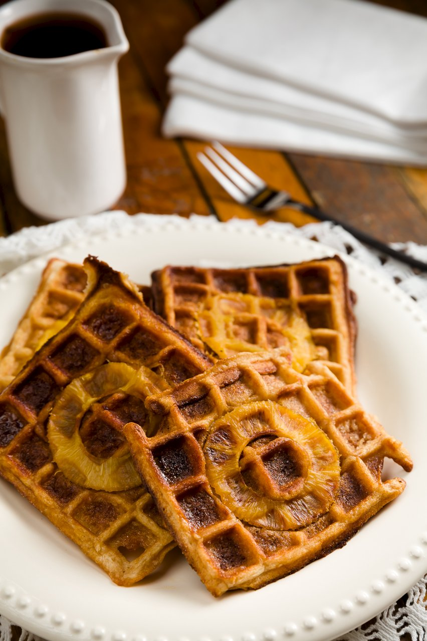 Easy Pineapple Upside Down Waffles