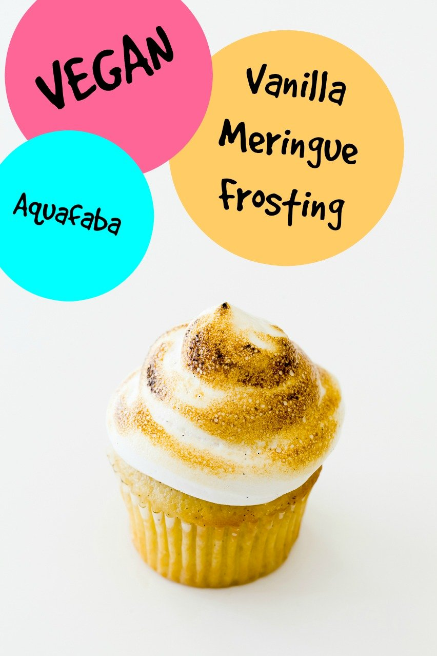 Vegan Meringue Frosting with Aquafaba