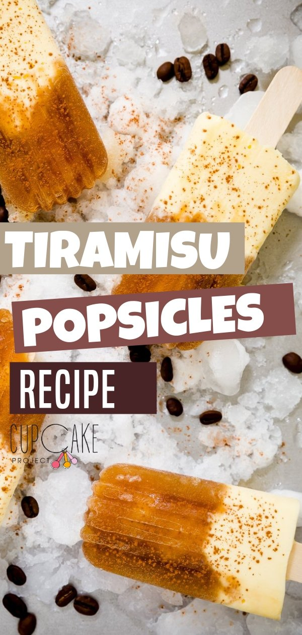 Quench your summer Tiramisu cravings with this Tiramisu Popsicle! It has two distinct sections, the icy and sweet coffee layer spiked with a splash of rum and the creamy mascarpone layer with the consistency of frozen cheesecake. Save this pin for later!