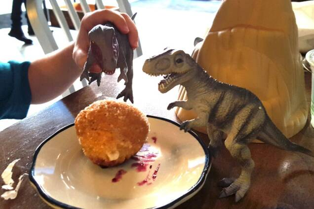 Dino at Biscuit Love