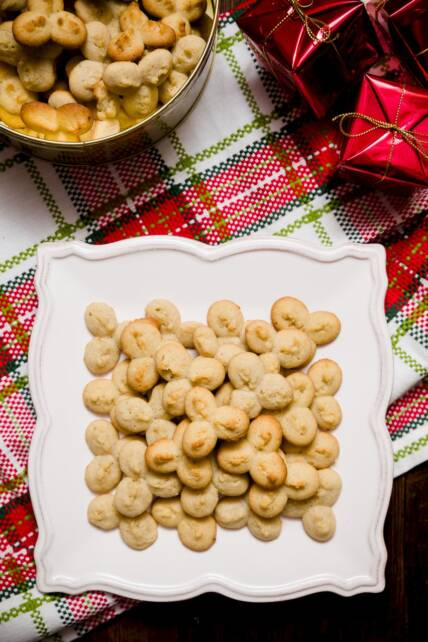 Caramelized Banana Spritz Cookies