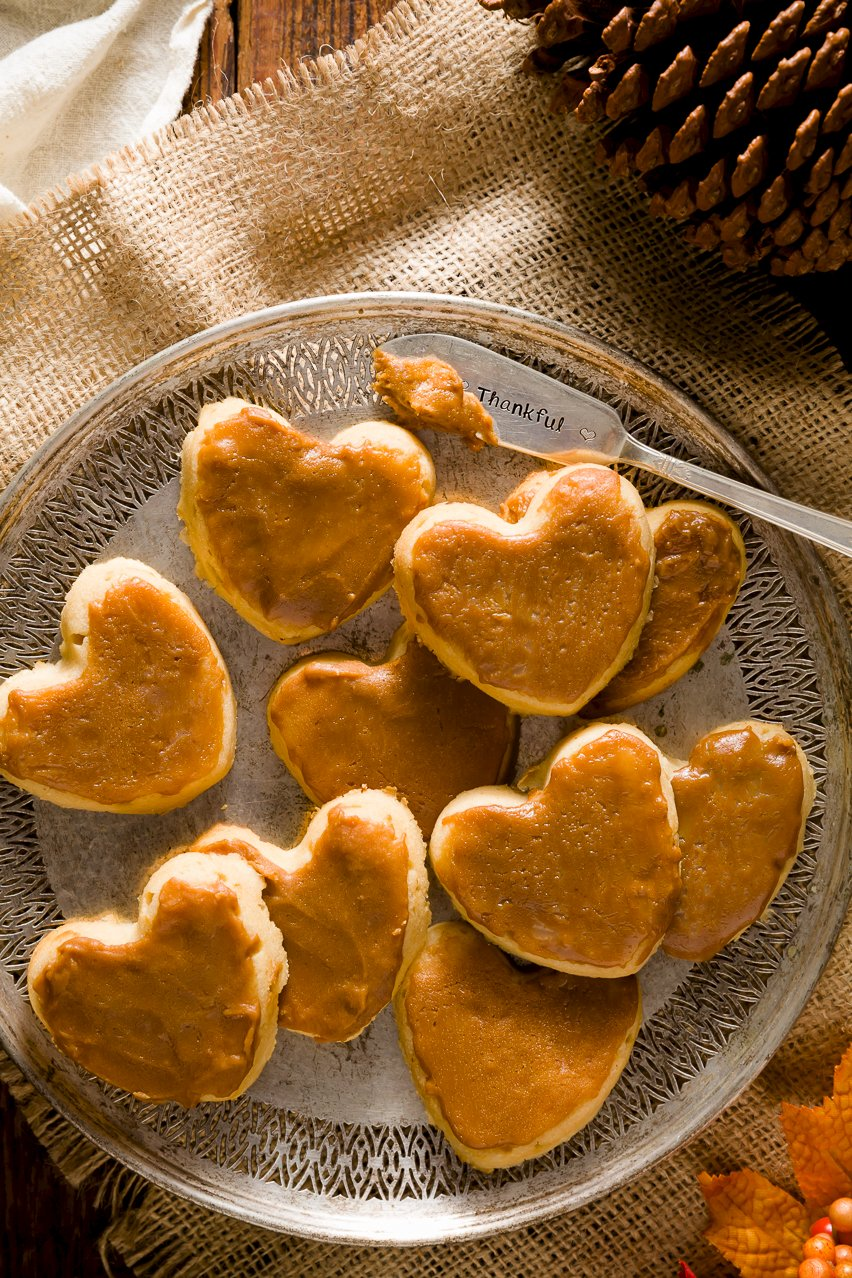 Thankful Heart Apple Cider Cookies