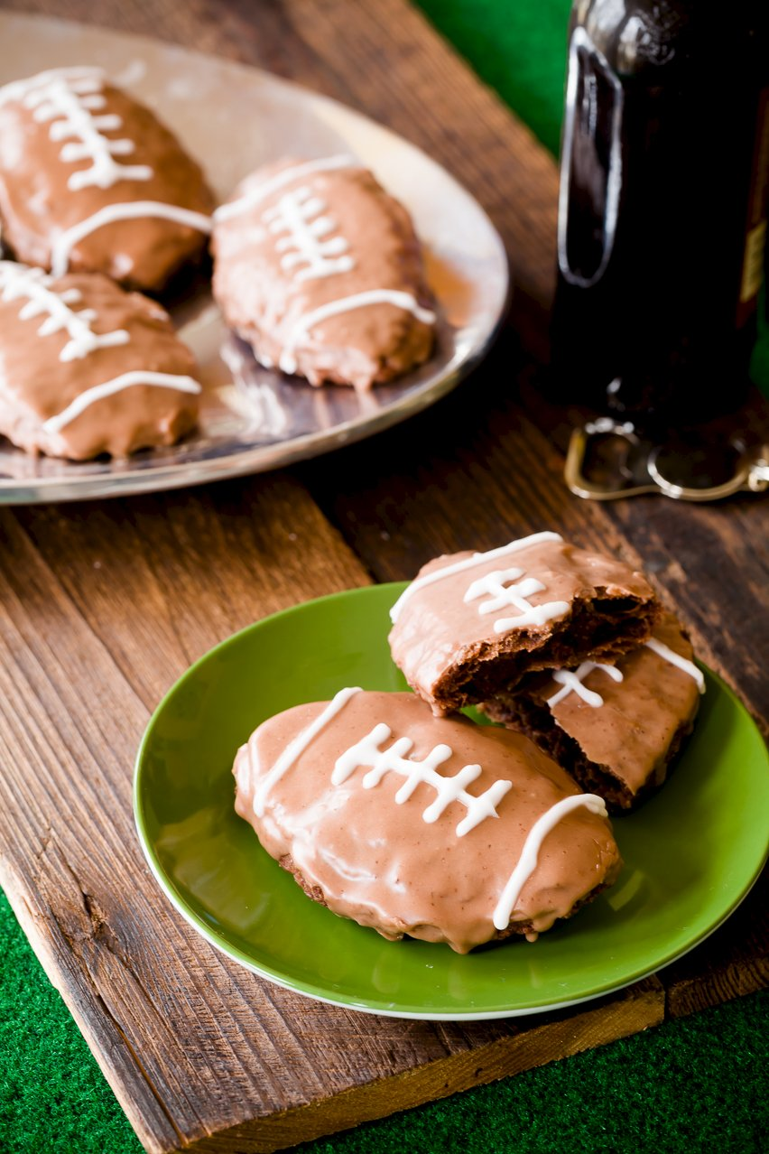 Deep Fried Football Brownie Hand Pies