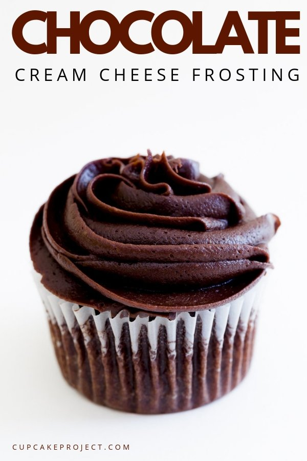 Chocolate cream cheese frosting is a perfect topping for just about any flavor cupcake! It