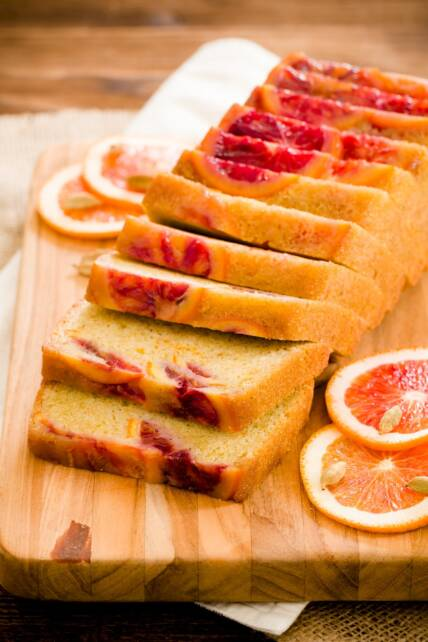 Blood Orange Olive Oil Pound Cake