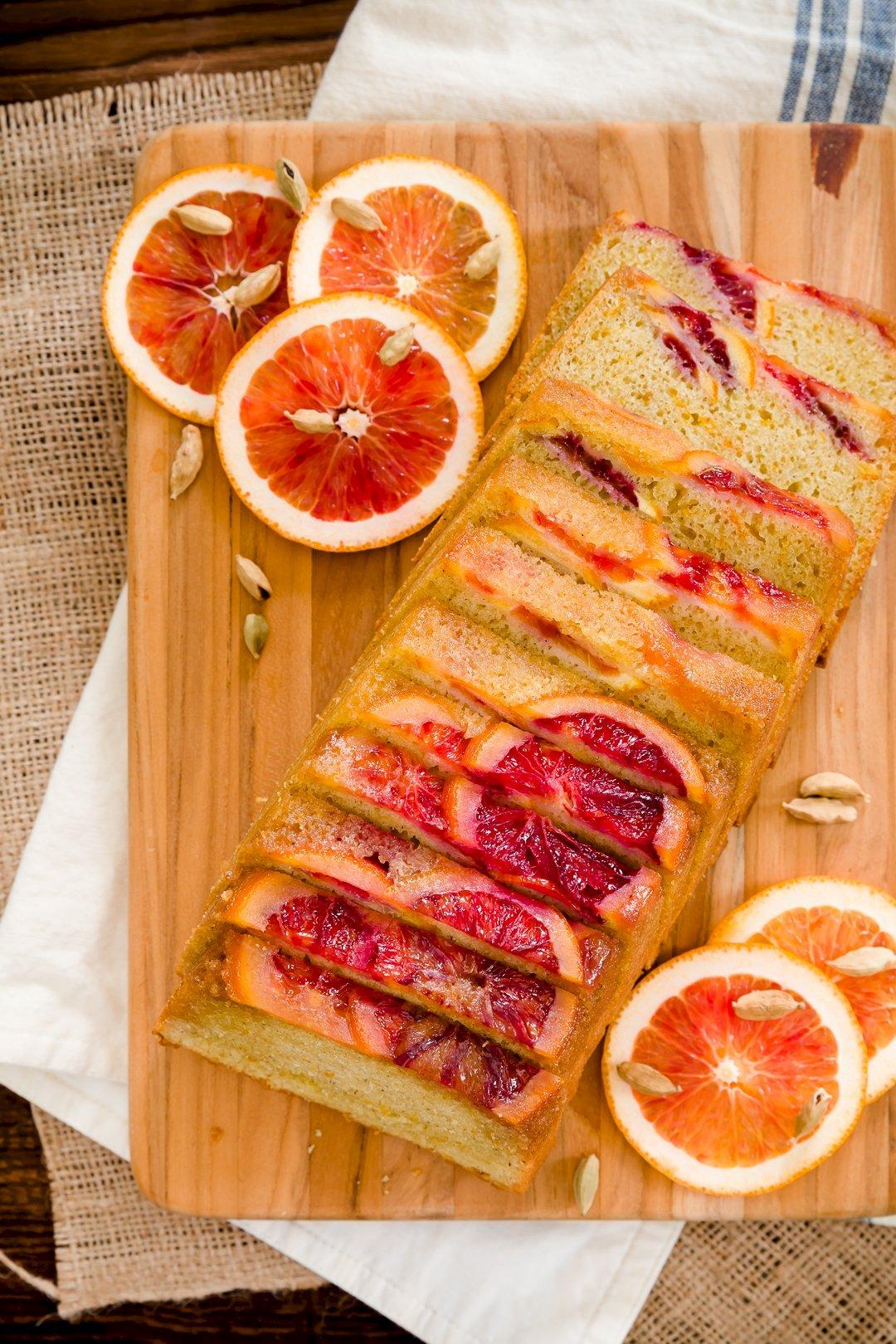 Blood Orange Olive Oil Pound Cake