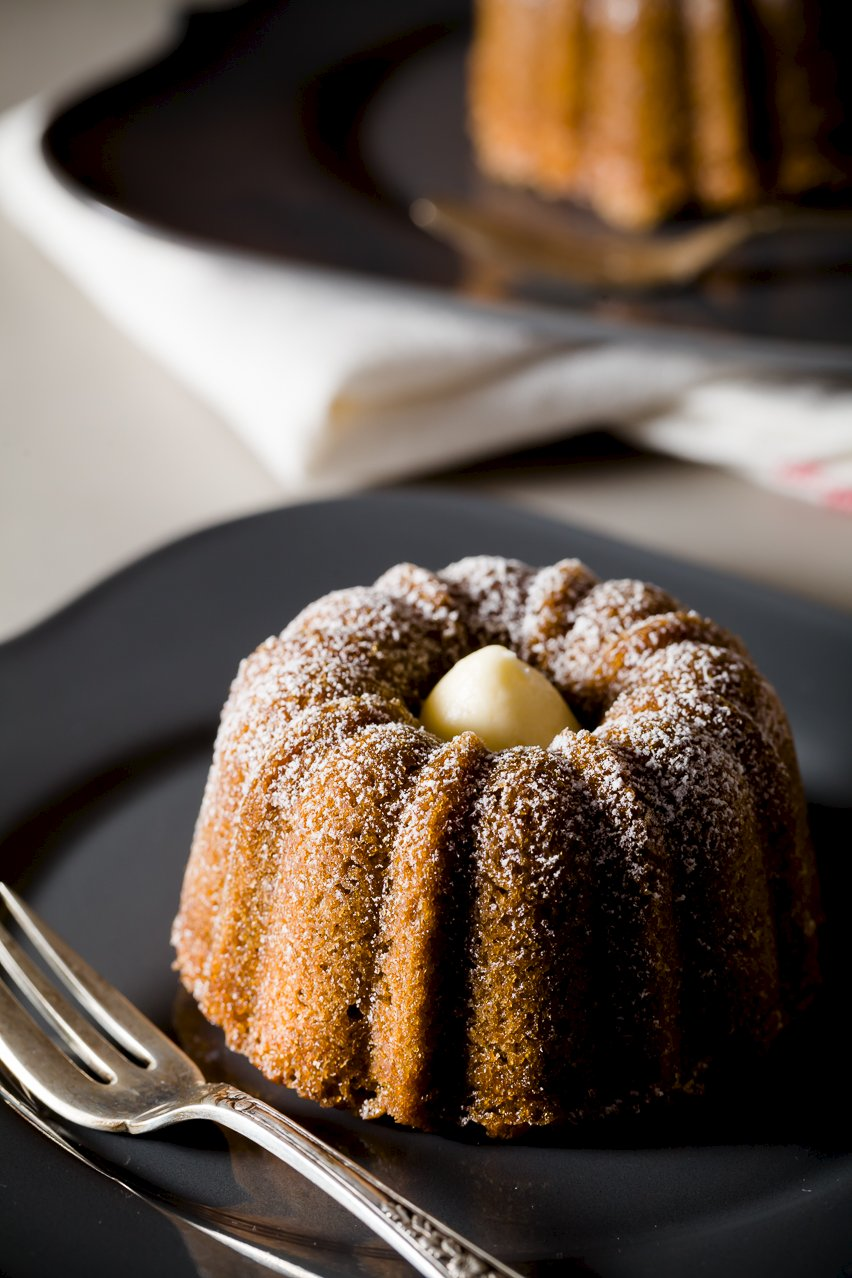 Mini Bundt Cakes Flavored Like Café au Lait
