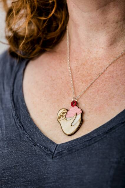 Exclusive Insanely Cute Cupcake Necklace – 6 Days Only