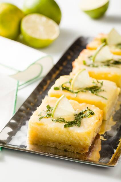 Mojito Bars are Lemon Bars for Grown Ups