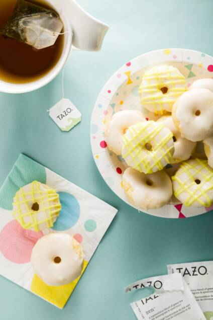 Baked Coconut Donuts with Zen Glaze