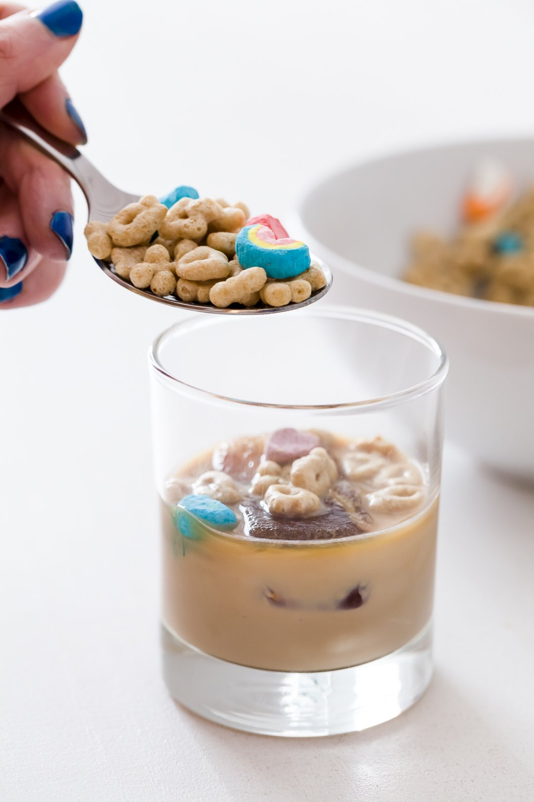 Baileys Cocktail with Lucky Charms