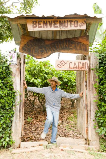 Fair Trade cacao grower