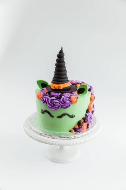 Halloween Witch Unicorn Cake