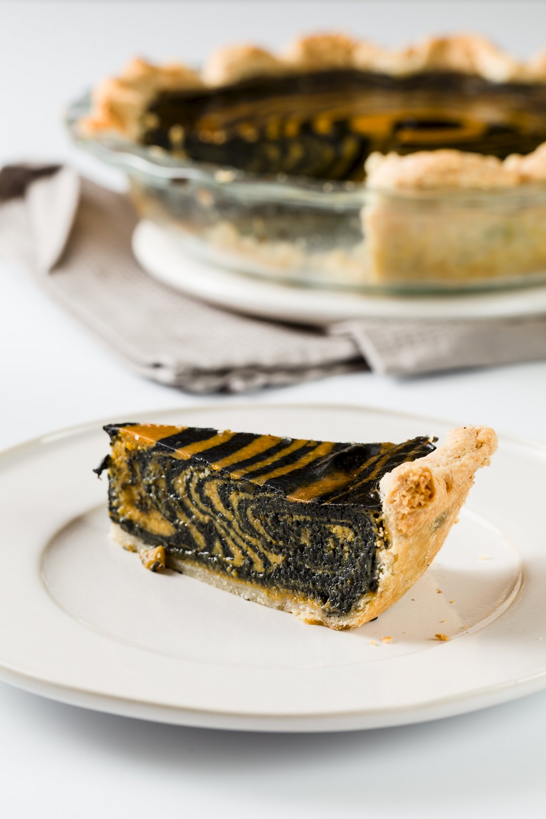 Zebra-Striped Pumpkin Pie