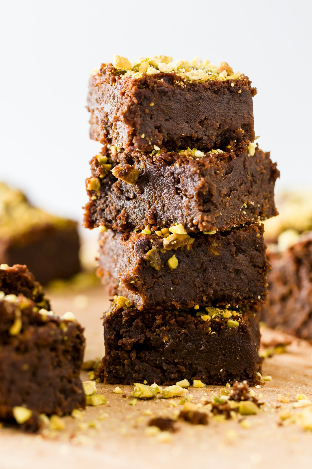 Flourless Pistachio Brownies
