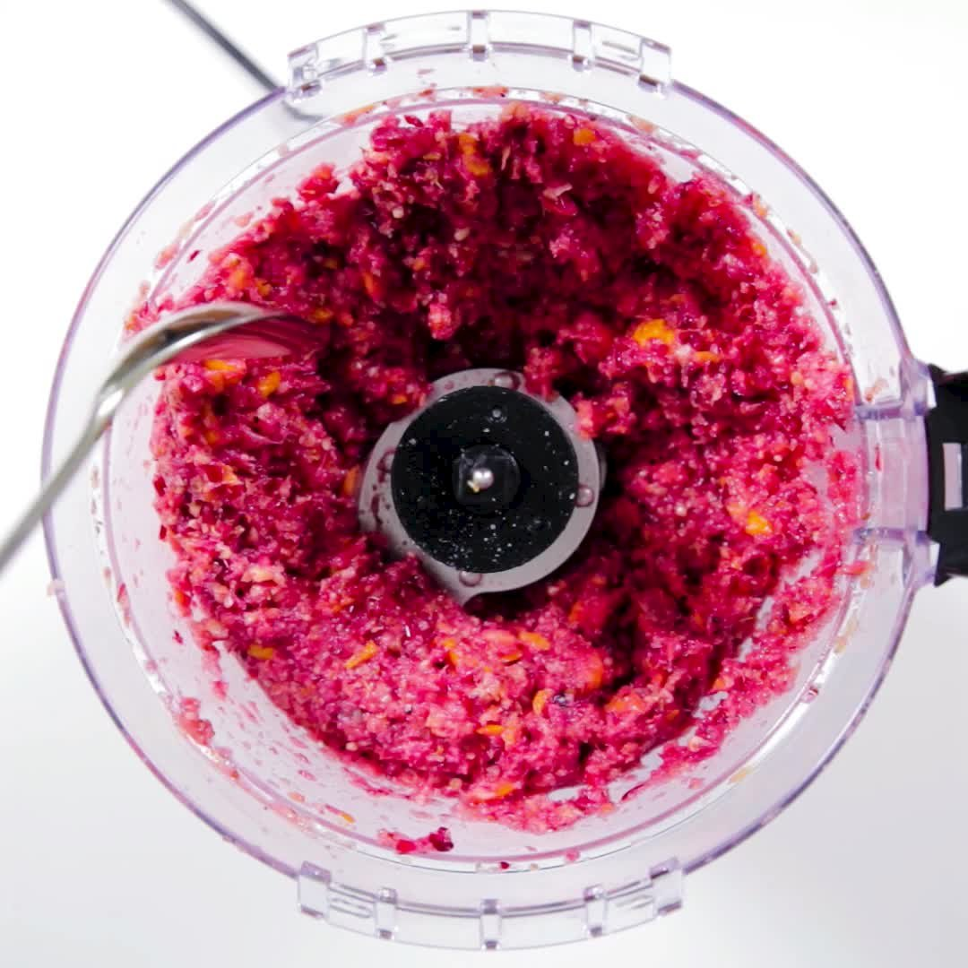Cranberry Relish in the food processor