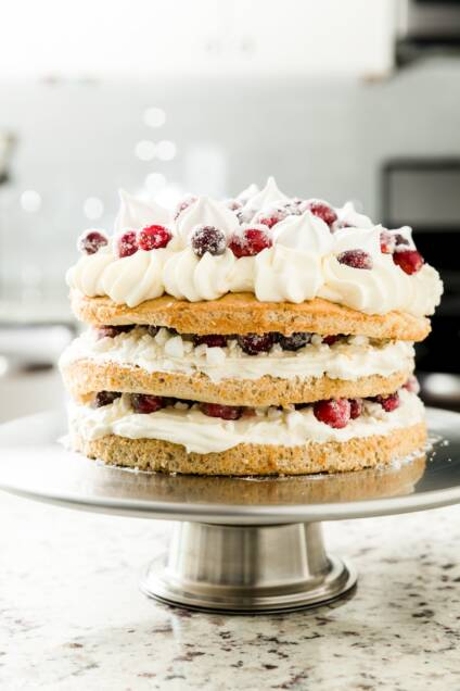 Spiced Cranberry Eton Mess Cake