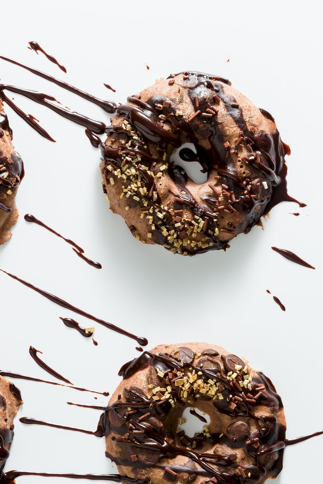 Chocolate FroYo Donuts