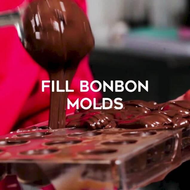filling bon bon molds