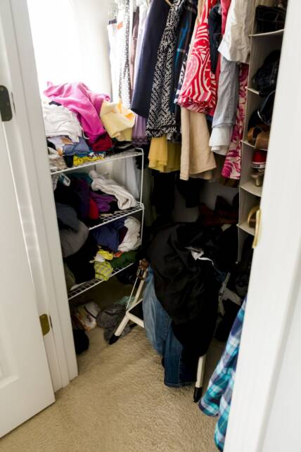 my closet - before