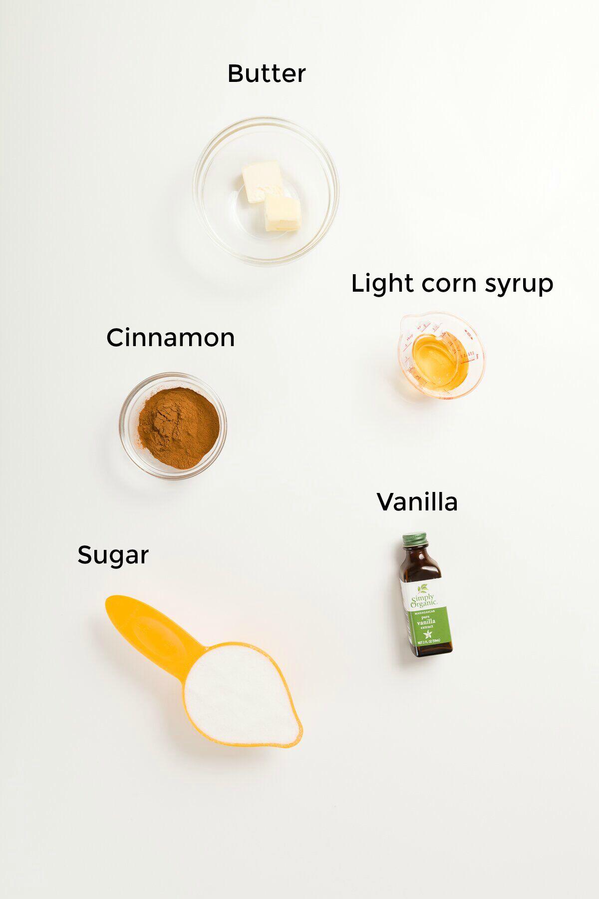 Labeled ingredient shot of a cinnamon chip ingredients