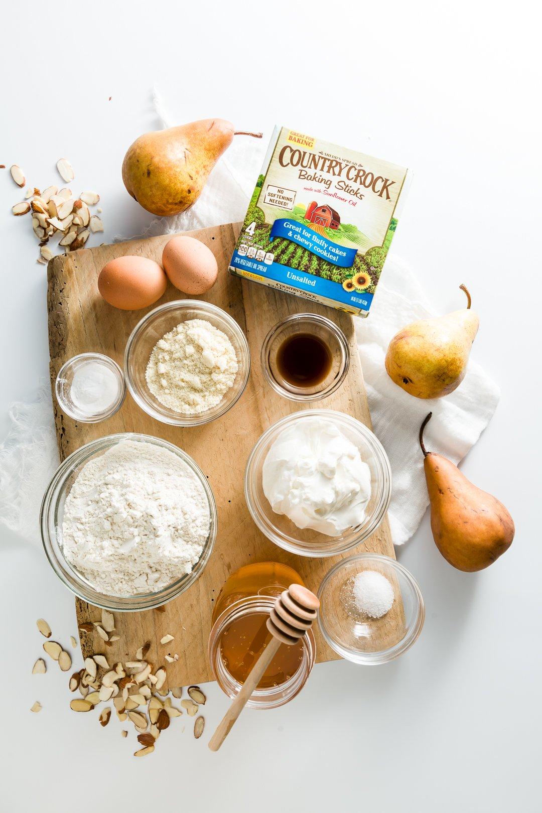 Pear Cake Ingredients