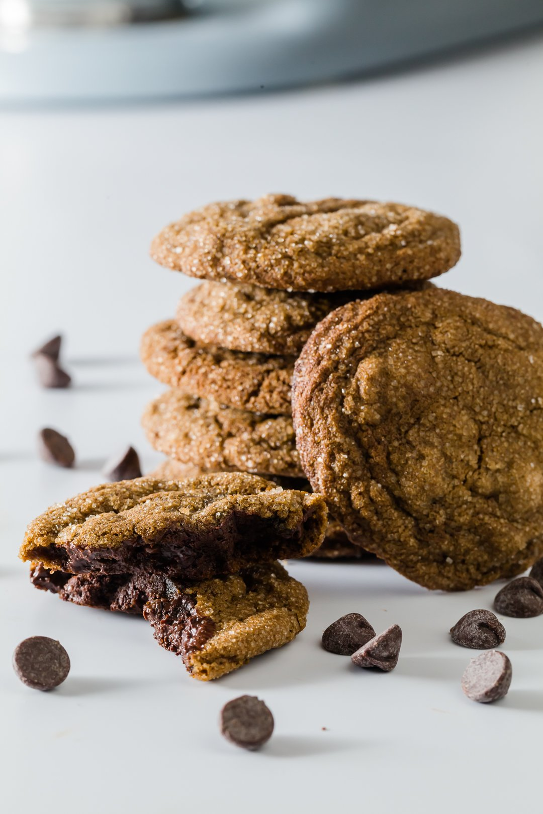 Chocolate Chip Ginger Molasses Cookies