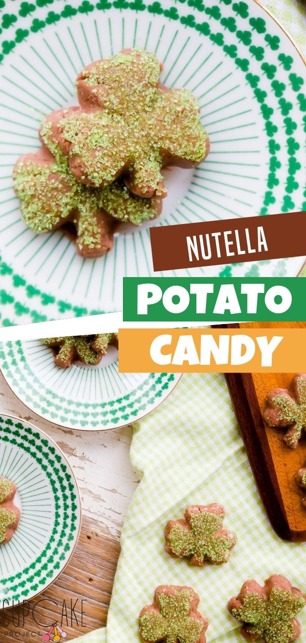 Potatoes can be made into candies too! It is typically made of boiled potatoes and powdered sugar that are mixed together, rolled out thinly, and are topped with Nutella. Mold this easy recipe into shamrocks for your next dessert!