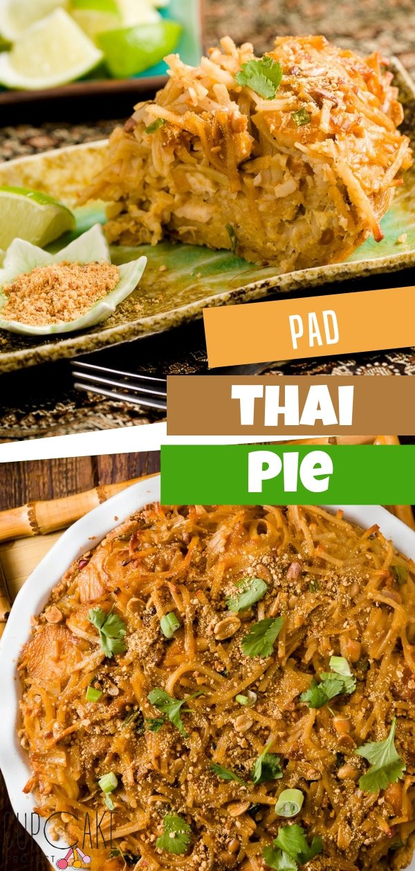 Pad Thai is the typical American gateway drug to Thai food, leading the way to curries and spicy Thai soups. This is a comfort food with a sweet peanut crust. The secret recipe are the eggs which keeps the pie in a perfect slice and adds a rich flavor!