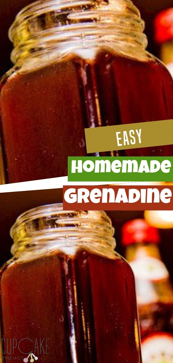How to Make Homemade Grenadine Syrup