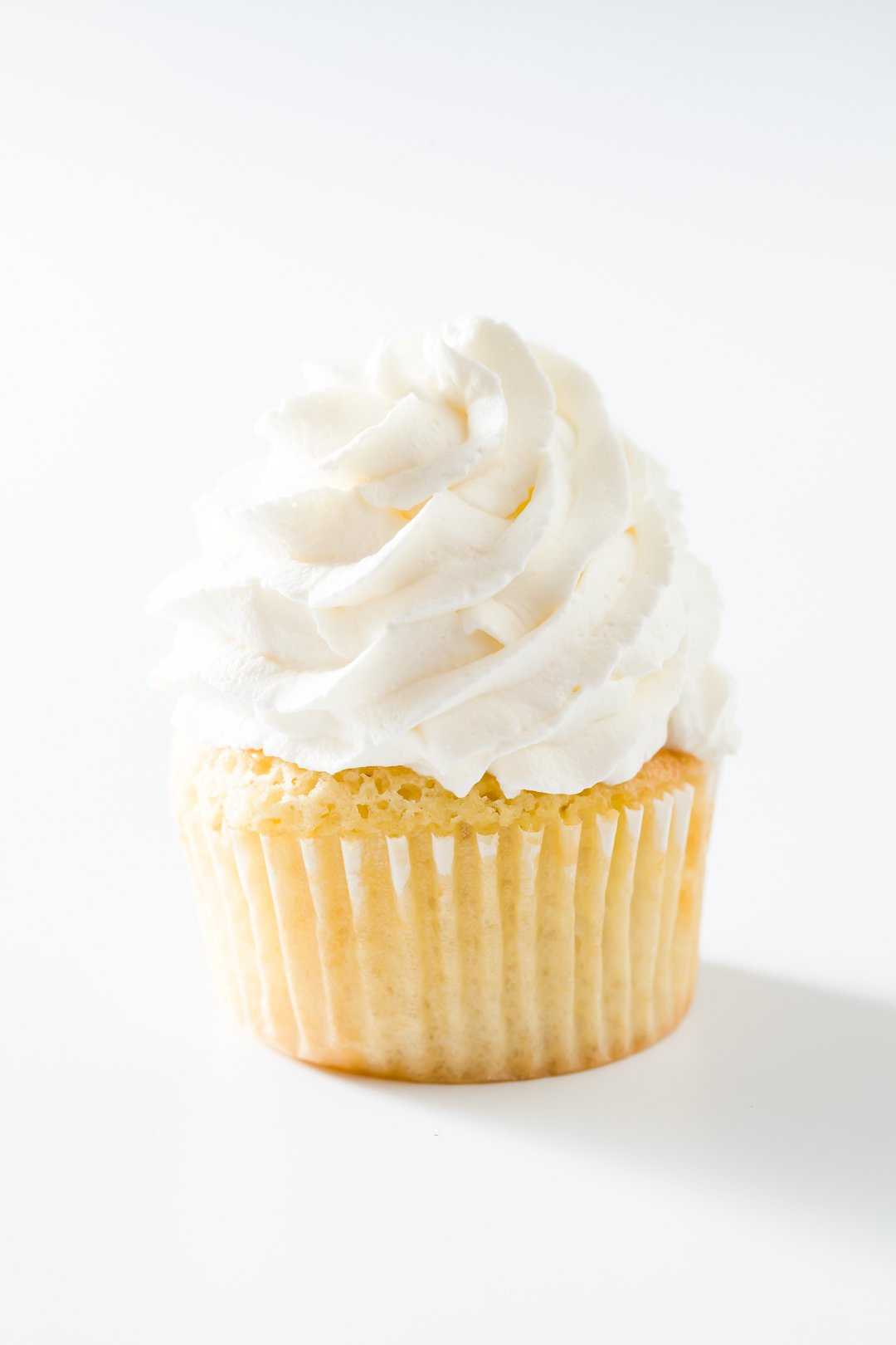 Chantilly cream on a cupcake