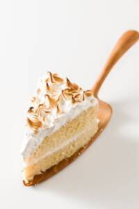 Slice of Pressure Cooker Tres Leches Cake