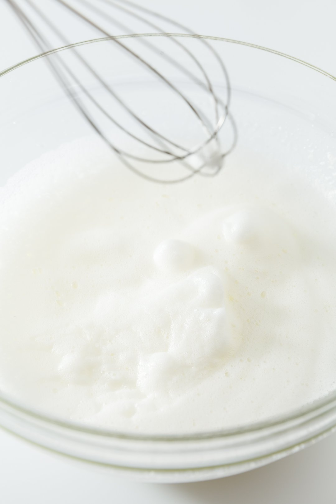 egg whites in soft peak phase