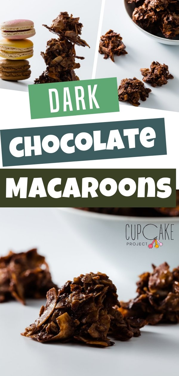 Love both chocolate and coconut? Why not have them in one dessert? These dark chocolate macaroons are made with chocolate, egg white, and sugar with just a pinch of salt. It will satisfy your chocolate and coconut cravings!