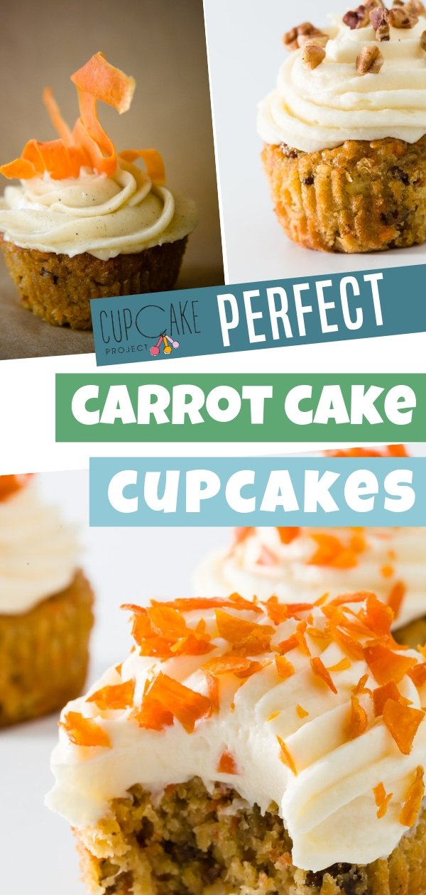 These carrot cake cupcakes are soft, fluffy and moist! You'll find spices, shredded coconut, chopped pecans, and raisins throughout each cupcake. Everyone will beg for this carrot cake cupcake recipe!
