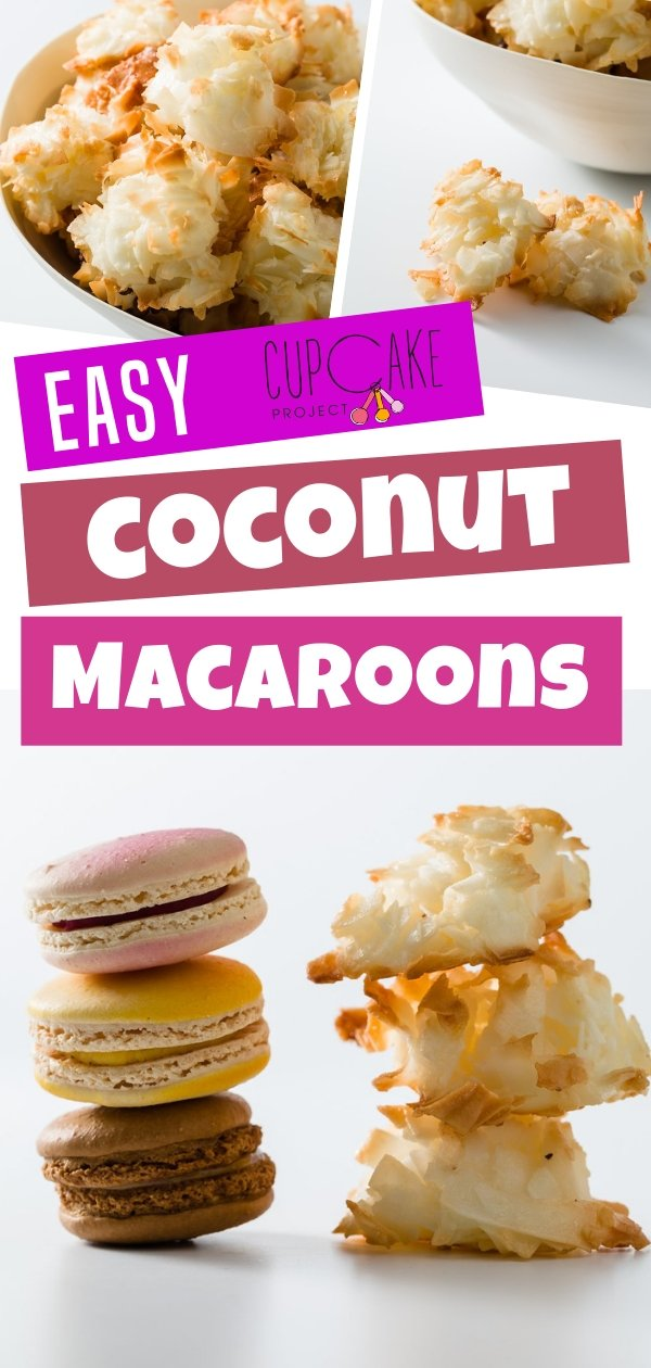 Coconut macaroons that\'s incredibly easy to make! Crispy on the outside and chewy on the inside and have a wonderful coconut flavor. You\'ll love these for snack or dessert!